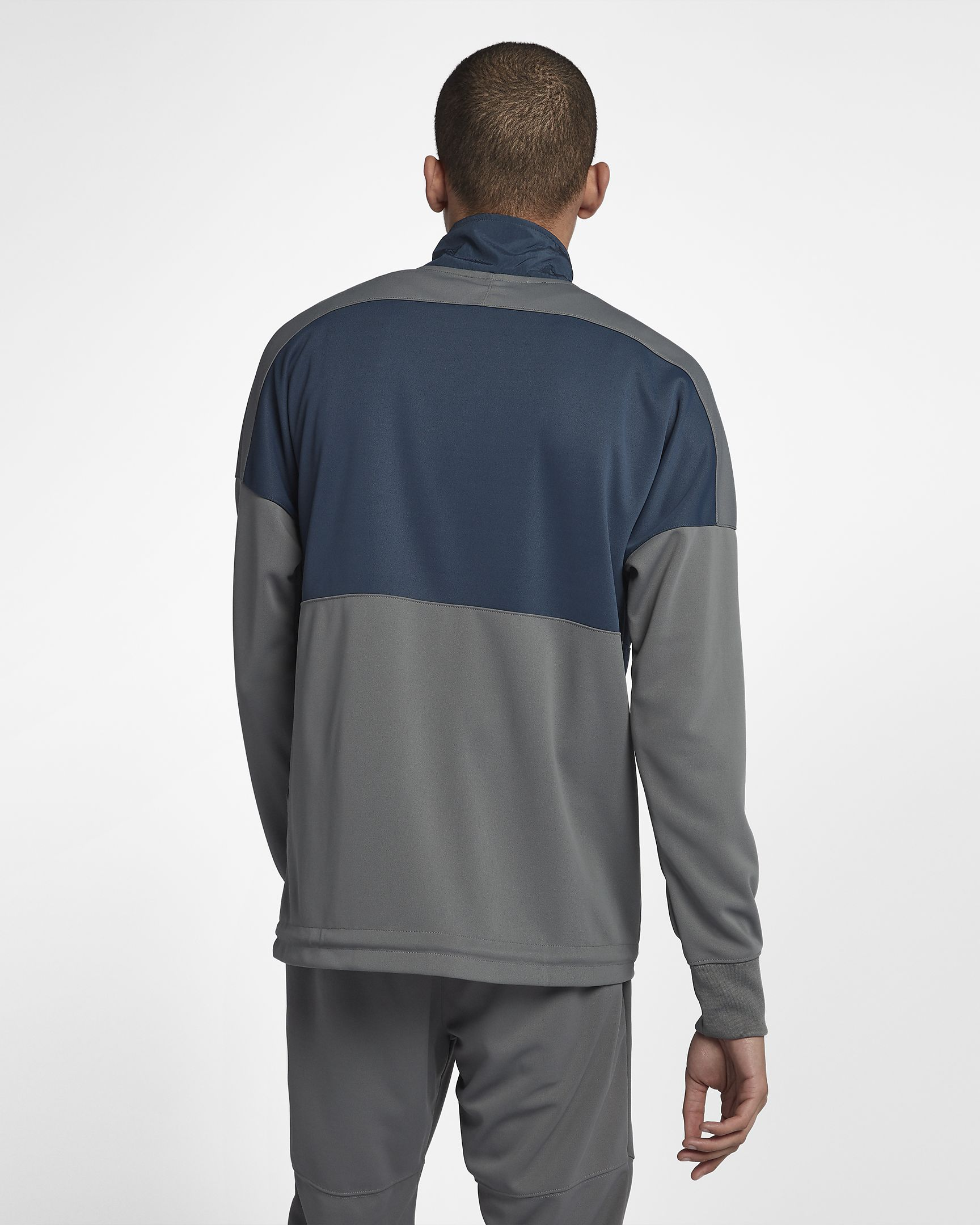 e5a80c91327c Men s Clothing Nike NSW Air Half Zip Top Men New Grey White Dark Blue  918324-471